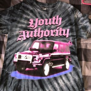 Youth authority tie dye shirt